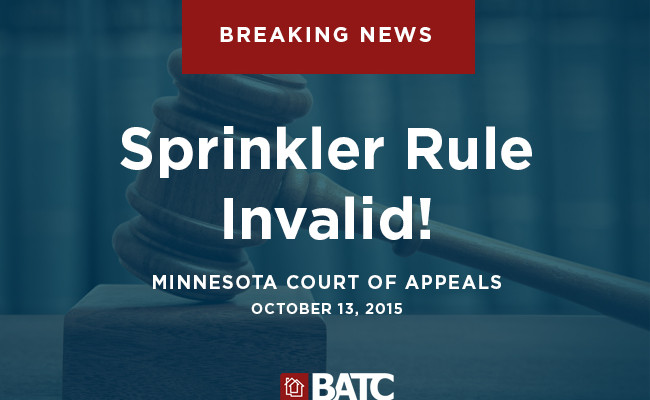 Sprinkler Rule Invalid