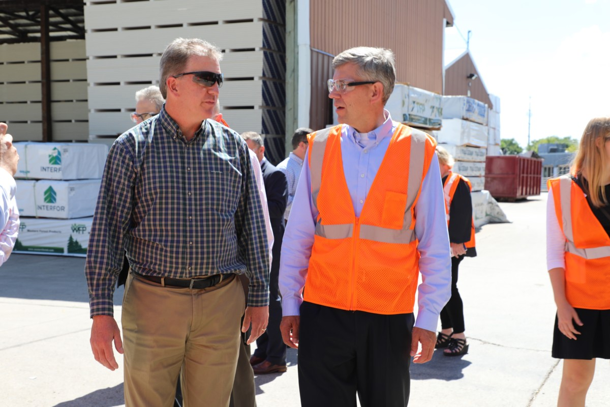 Congressman Erik Paulsen Talks Workforce & More at ABC Millwork