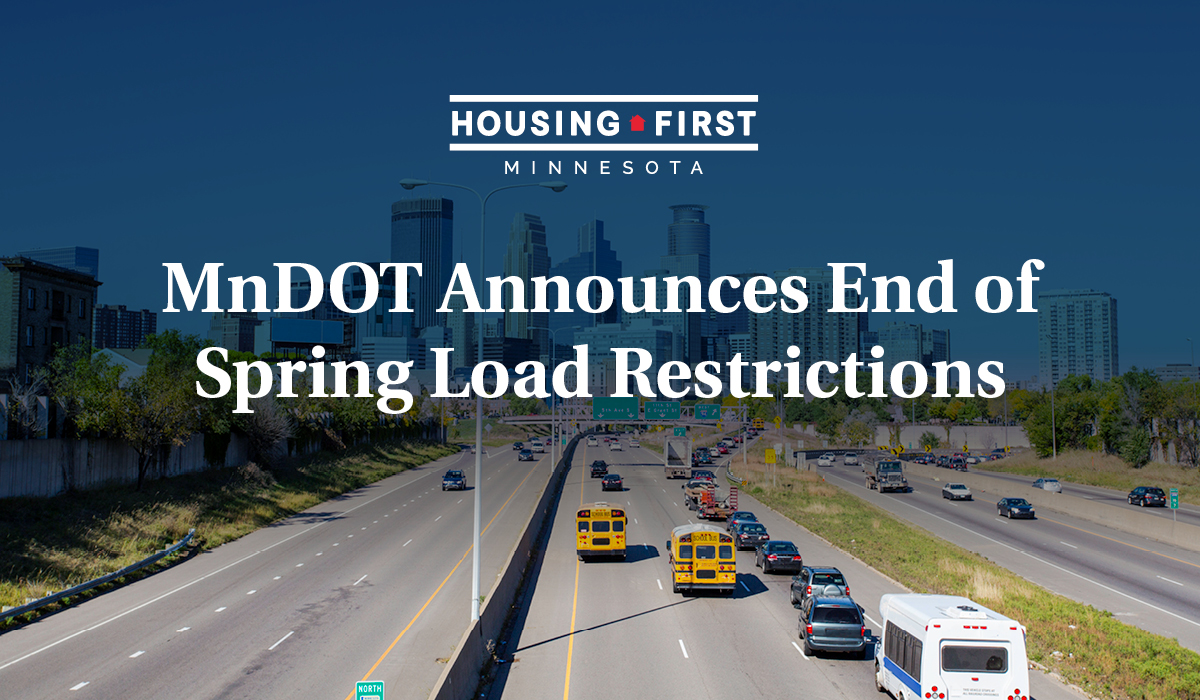 MnDOT Announces End Of Spring Load Restrictions
