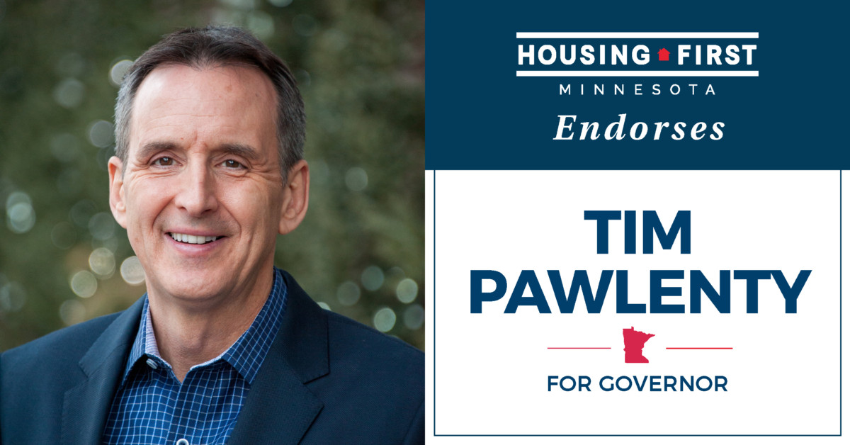Housing First Minnesota Endorses Tim Pawlenty for Governor