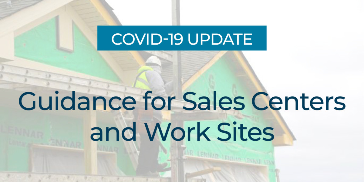 Guidance for Sales Centers and Work Sites