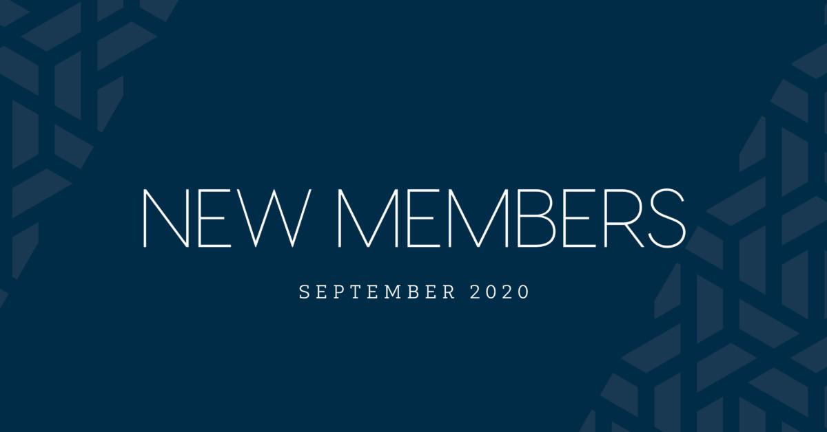 New Members | September 2020