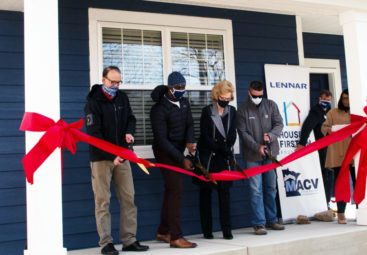 Housing First Minnesota Foundation Hands Over the Keys to New Home for Heroes